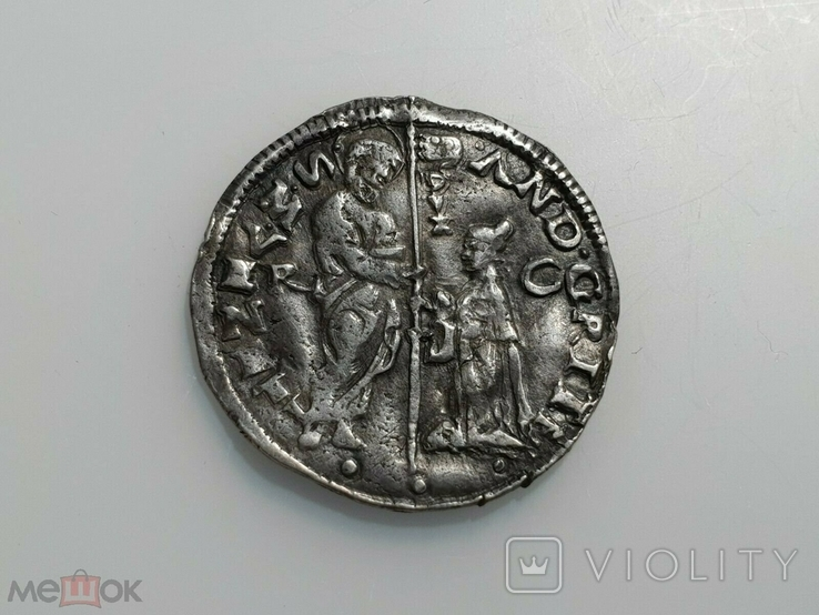 Венеция 1/2 лиры 1523 - 1538 гг Дож Андреа Гритти. Марчелло, фото №2