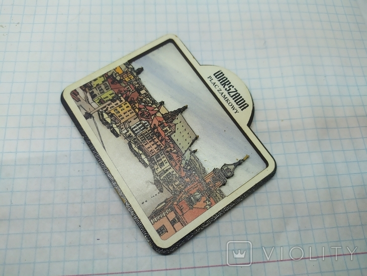 Магнит Варшава, Польша. 75х65мм, фото №3