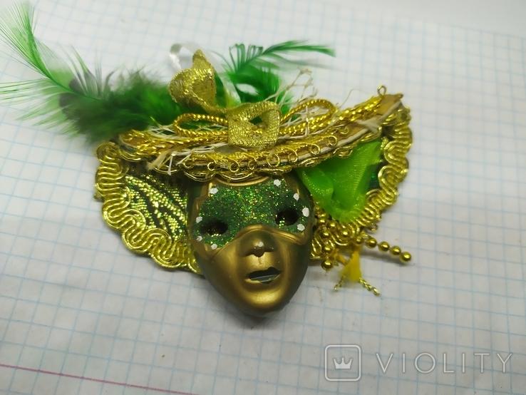 Магнит Италия, маска, карнавал. 85х60мм, фото №2