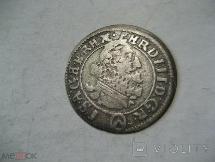 Священная Римская империя Австрия 3 крейцера 1624 г Фердинанд II, фото №2