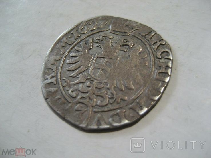 Священная Римская империя Австрия 3 крейцера 1627 г Фердинанд II, фото №6