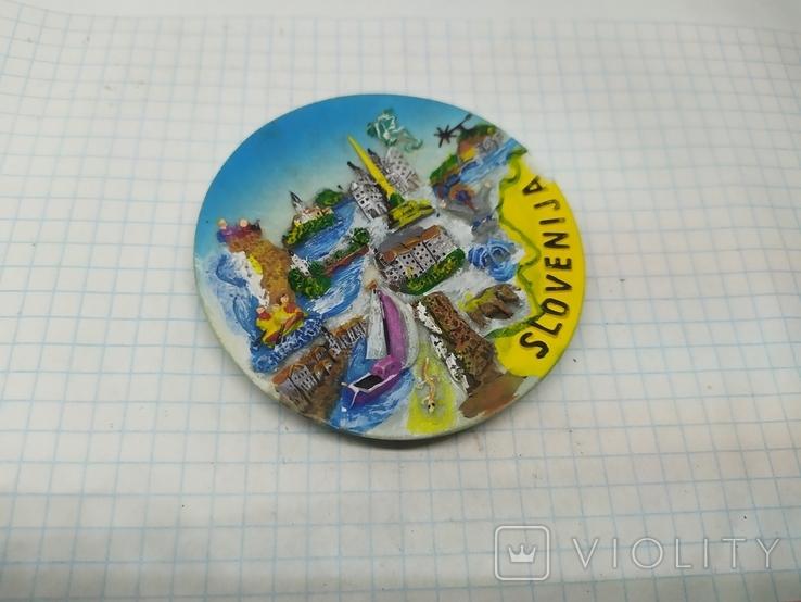 Магнит Словения. Диаметр 70мм, фото №3