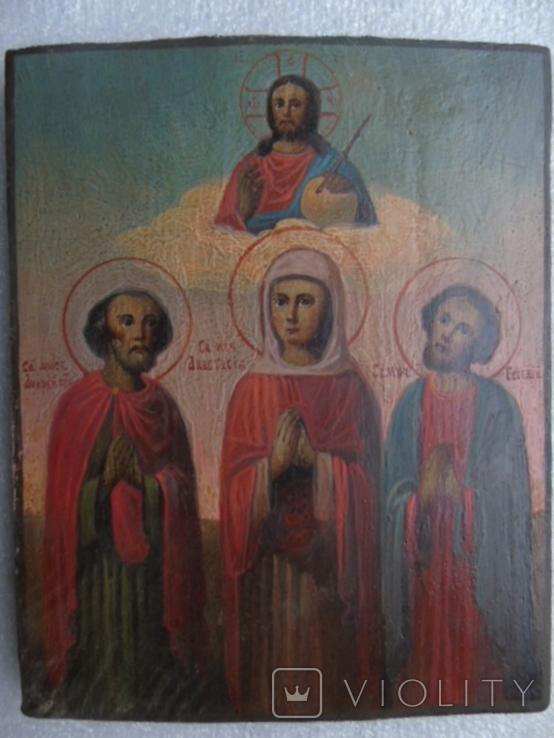 Икона Анастасия , Андрей и Евгений, фото №2