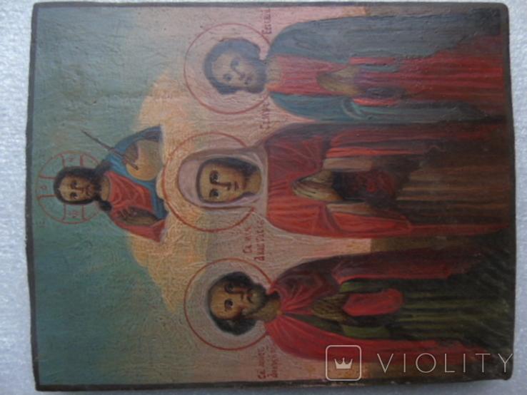 Икона Анастасия , Андрей и Евгений, фото №3