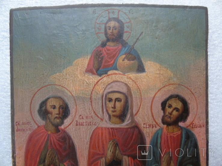Икона Анастасия , Андрей и Евгений, фото №4