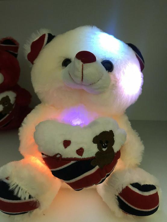 Мягкая игрушка светящийся мишка Тедди., фото №4