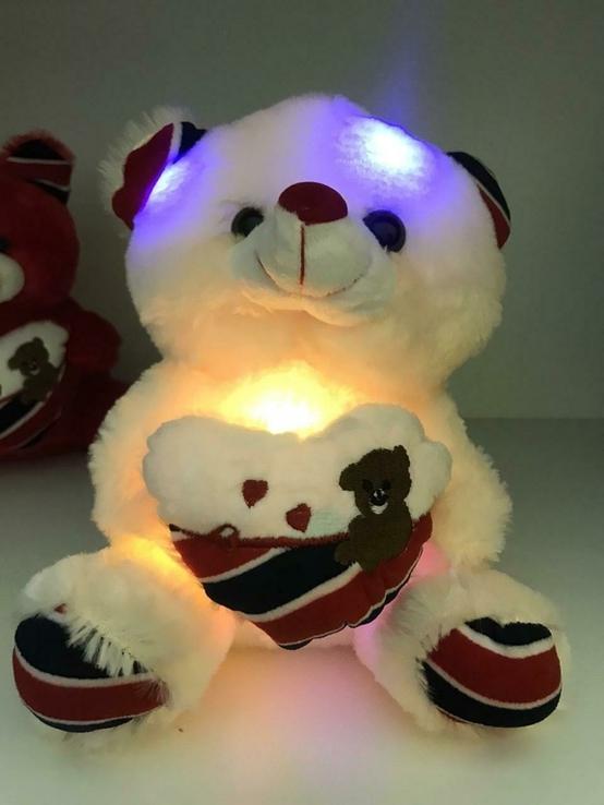 Мягкая игрушка светящийся мишка Тедди., фото №5