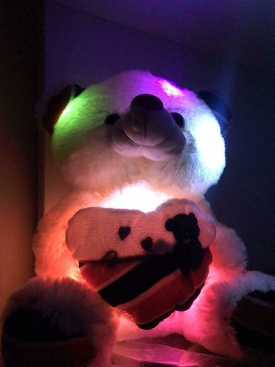 Мягкая игрушка светящийся мишка Тедди., фото №7