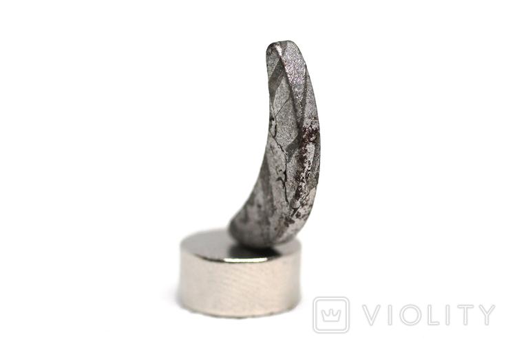 Заготовка-вставка з метеорита Seymchan, 1,2 г, із сертифікатом автентичності, фото №7