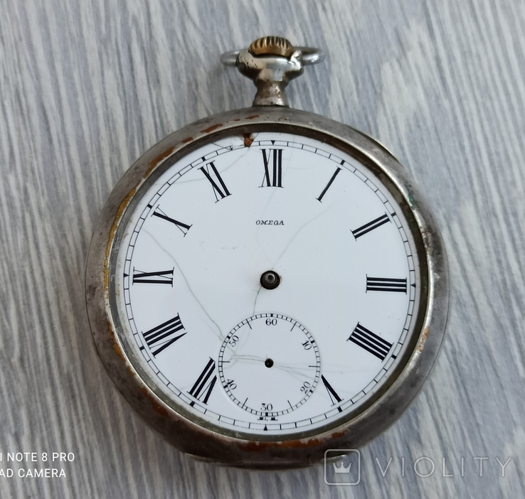 Карманные часы. Omega / Омега / серебро - на ходу