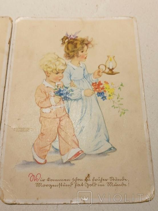 """Три германских открытки """"Дети"""", фото №3"""