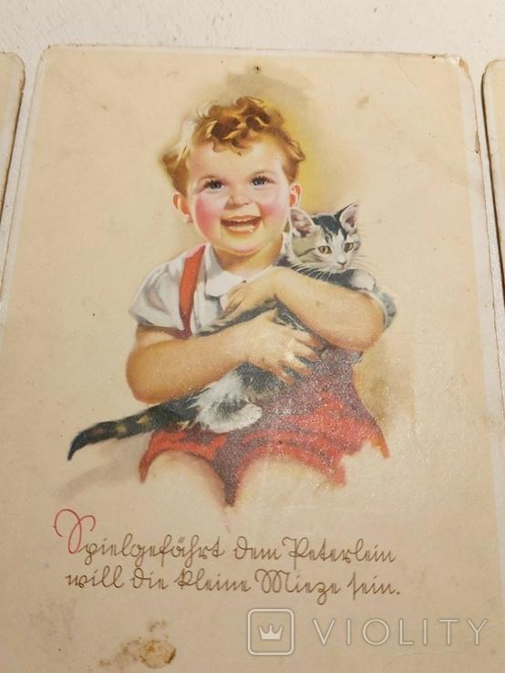 """Три германских открытки """"Дети"""", фото №4"""