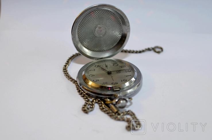 Кишеньковий годинник Молния з цепочкою, фото №4