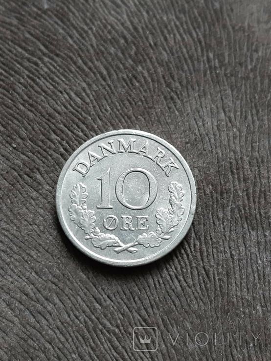 Дания 10 оре 1966, фото №2