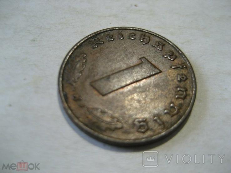Германия Третий Рейх 1 пфенниг 1938 J, фото №3