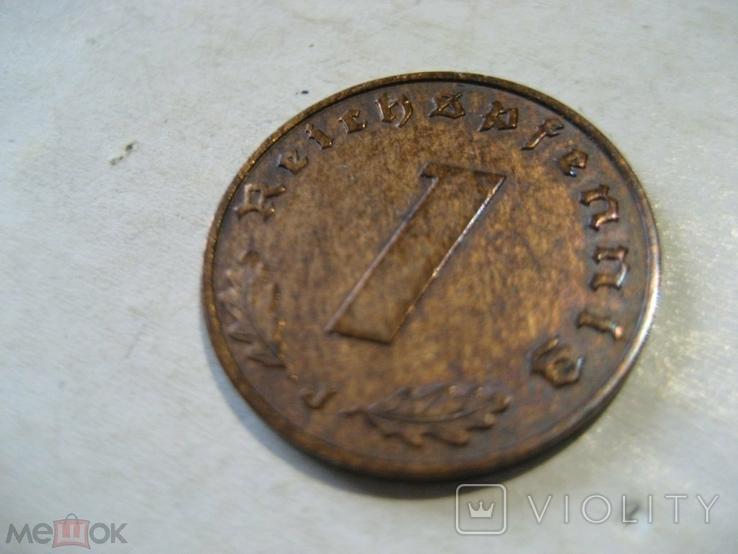 Германия Третий Рейх 1 пфенниг 1940 J, фото №3