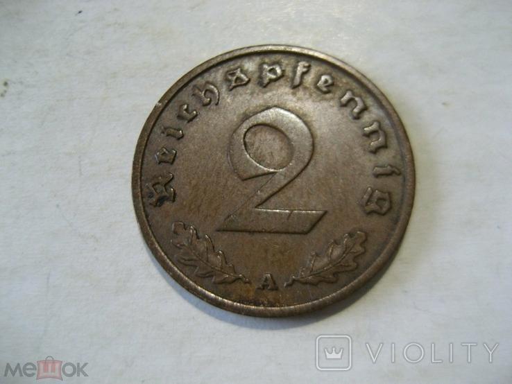 Германия Третий Рейх 2 пфеннига 1939 А, фото №2
