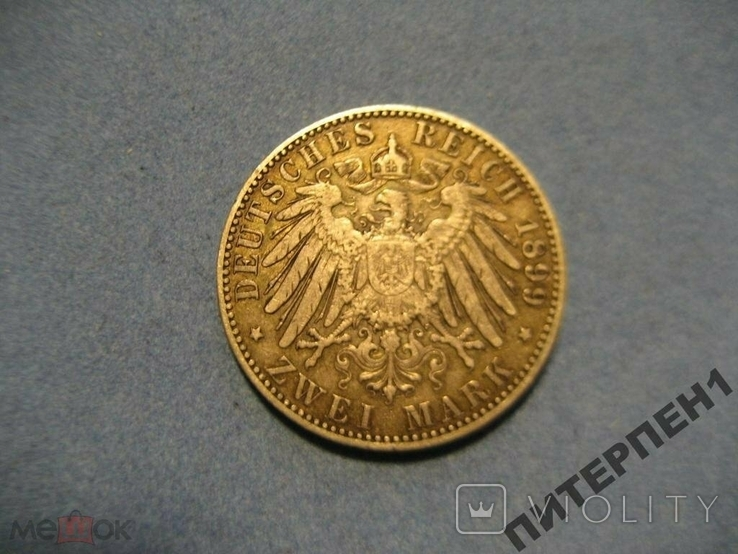 Германия Пруссия 2 марки 1899 А, фото №3