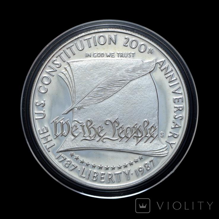 1 Доллар 1987 200 Років Конституції / 200 Лет Конституции, США Proof, фото №2