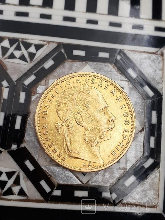 20 франков - 8 форинтов 1885. Австро-Венгрия., фото №4