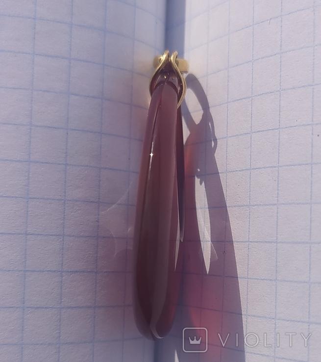Кулон сердолик, золото., фото №7