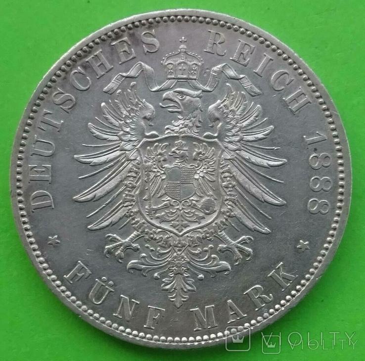 5 марок, 1888 год, Пруссия,, фото №7
