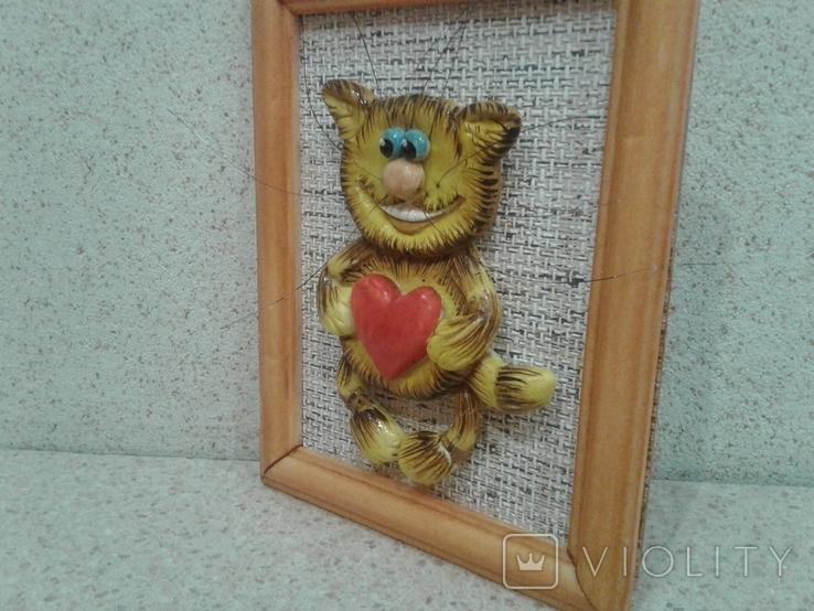 Котенок с большим сердцем (хенд мейд), фото №4