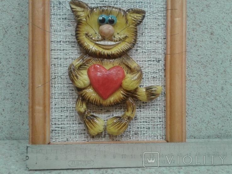 Котенок с большим сердцем (хенд мейд), фото №6