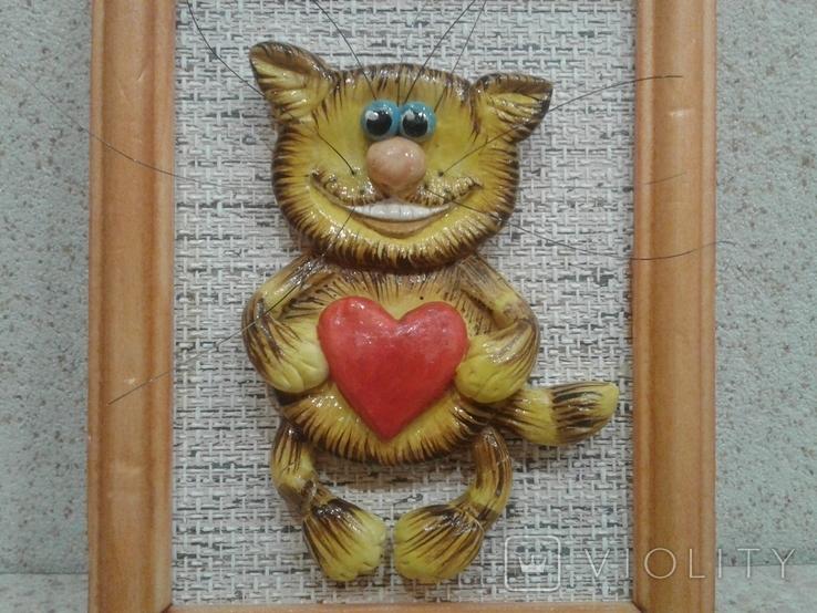 Котенок с большим сердцем (хенд мейд), фото №7