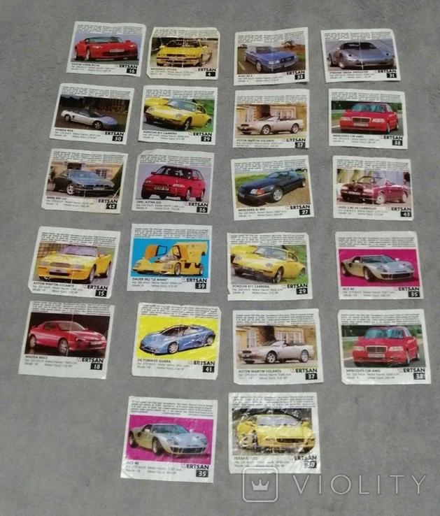 Вкладыши от жвачек Авто 22 шт, фото №2