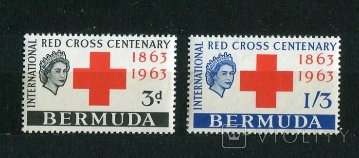 Британские колонии, Бермуды. 100 лет Красного креста. MNH 1963 г., фото №2