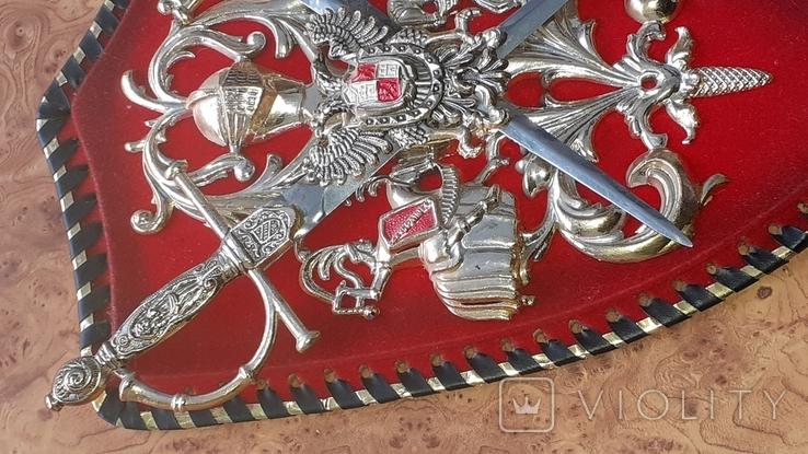 Пано, герб рыцари, мечи, фото №5