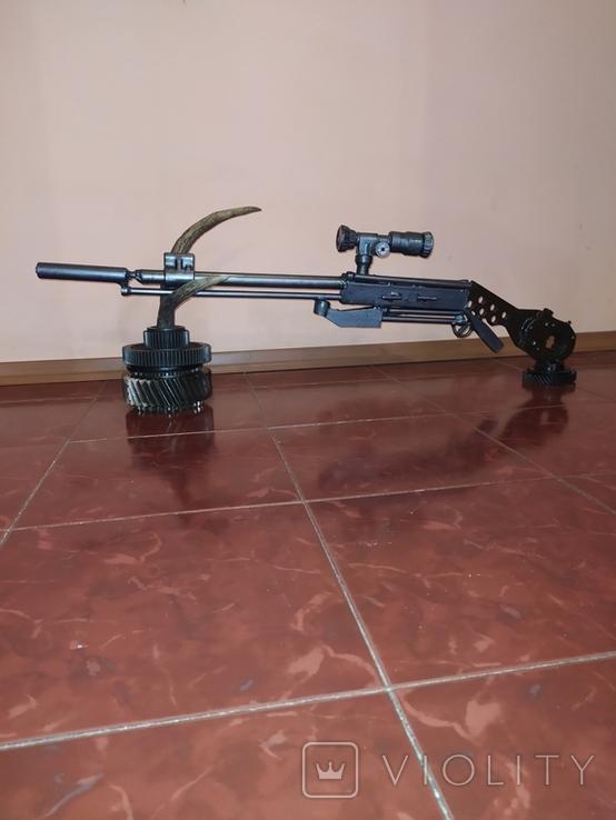 Ружье с оптикой. Ручная работа., фото №3