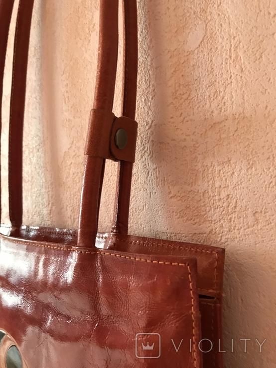 Кожаная сумка с изображением Кота, фото №8