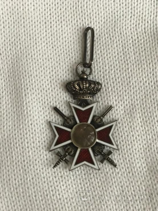 Знак ордена Короны 5 рыцарской степени с мечами, фото №4
