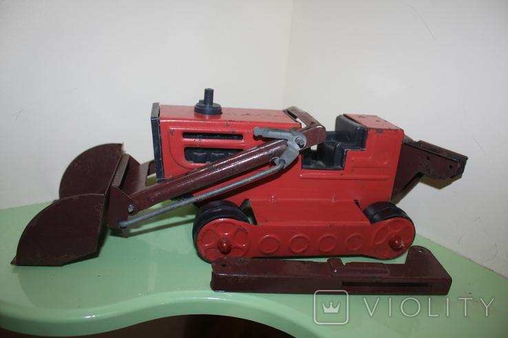 Экскаватор СССР машина, игрушка, трактор, фото №3