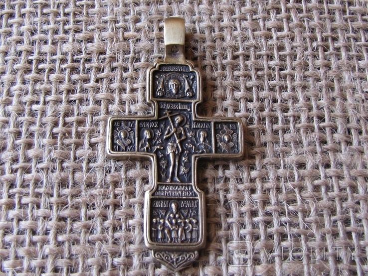 Крестик наперсный с распятием (реплика), фото №2