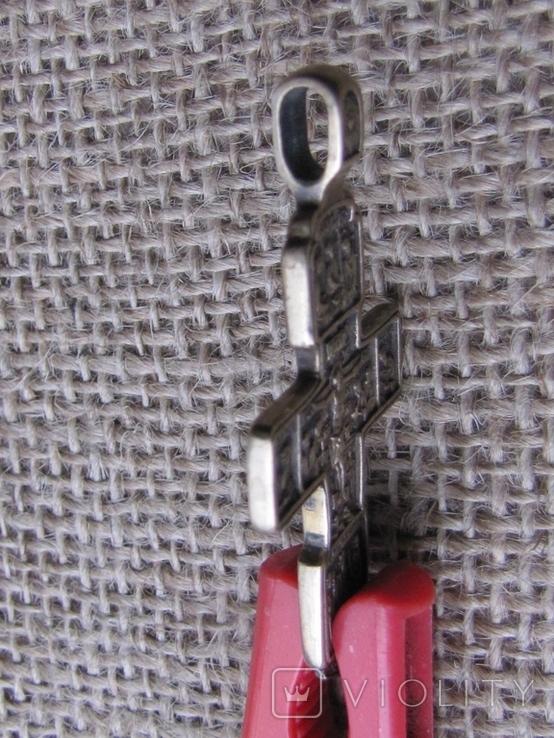 Крестик наперсный с распятием (реплика), фото №4