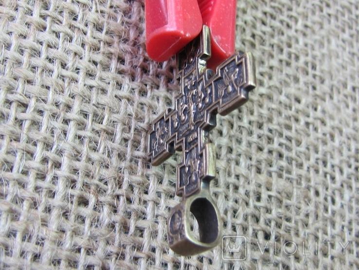 Крестик нательный с крестообразными медальонами (реплика), фото №4