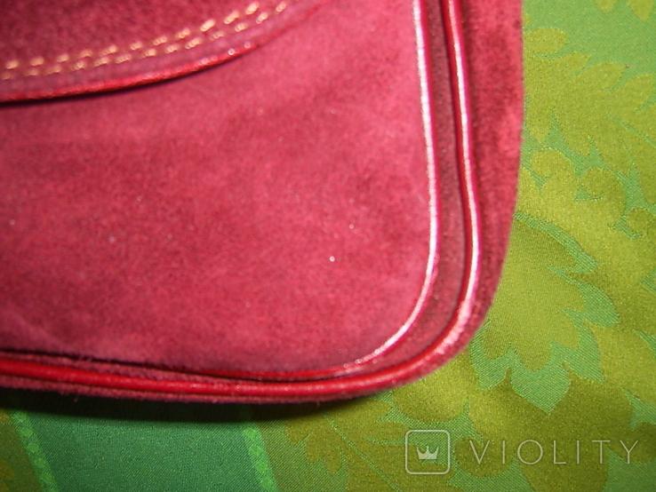 Сумка замшевая на плечо Bravo, фото №9