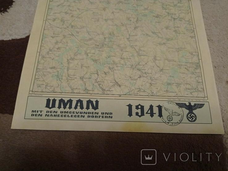Копия немецкой  карты  Умань, фото №4