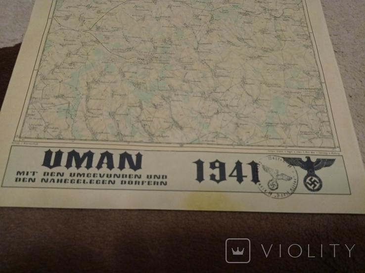 Копия немецкой  карты  Умань, фото №5