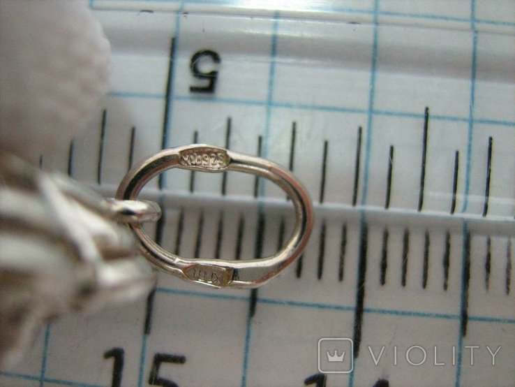 Новый Серебряный Кулон Подвеска Крупный Фианит Кластер Серебро 925 проба 136, фото №6