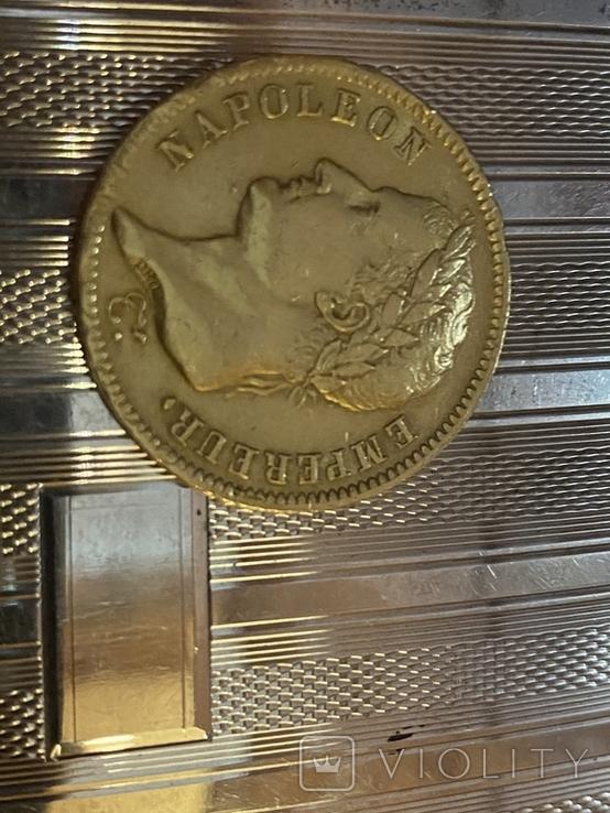 Наполеон 40-20 франков Золото Франція., фото №2