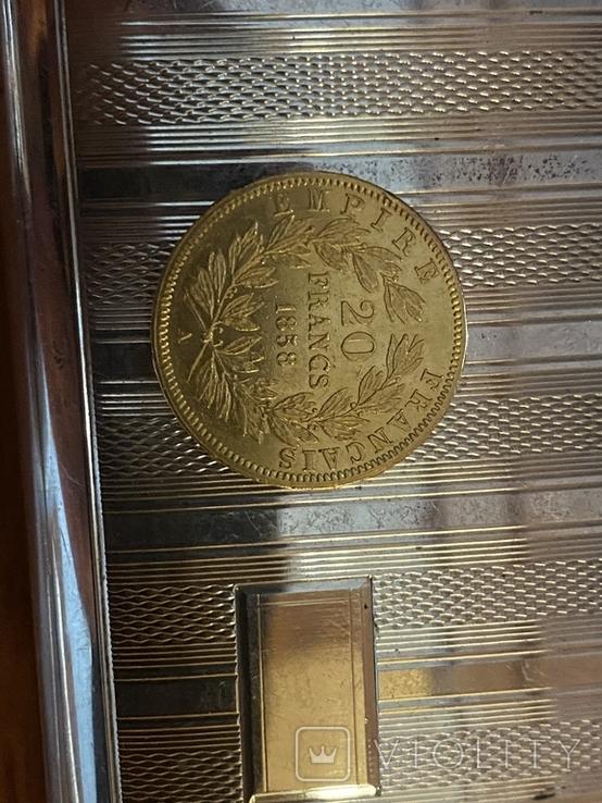 Наполеон 40-20 франков Золото Франція., фото №8