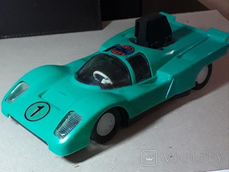 Инерционная гоночная машинка из СССР длина 20 см., фото №2