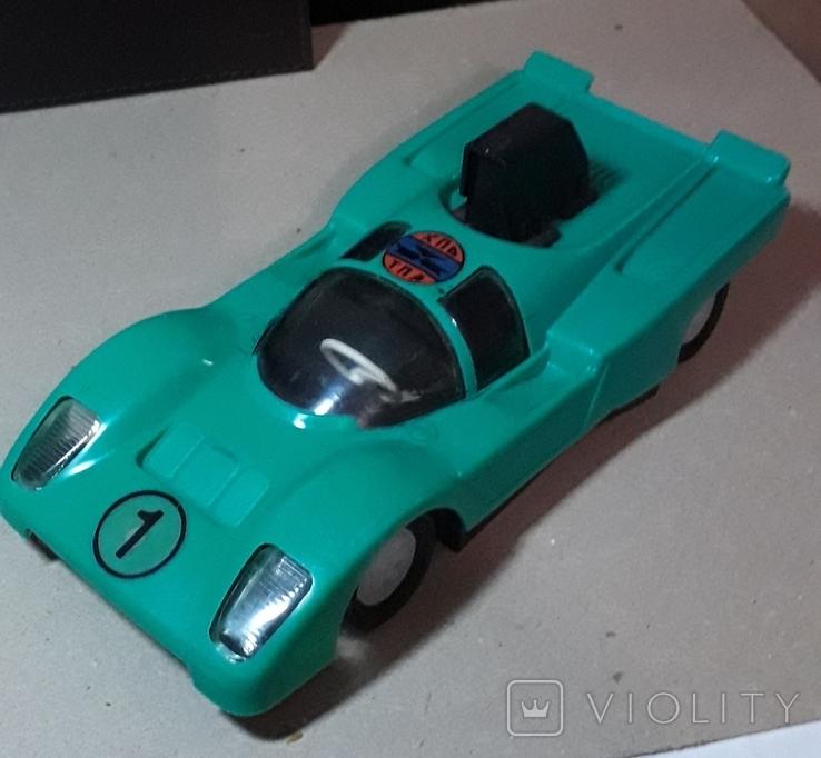 Инерционная гоночная машинка из СССР длина 20 см., фото №3