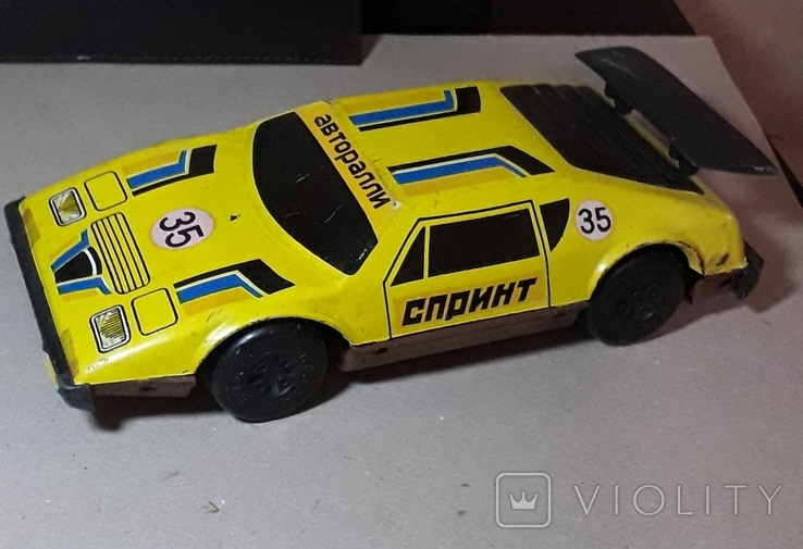 Винтажная машина гоночная СПРИНТ Авторалли,жесть, из СССР, фото №2