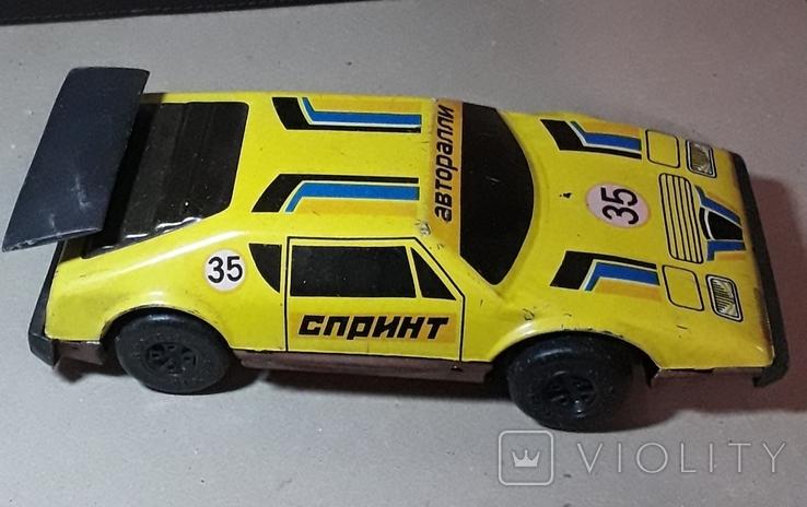 Винтажная машина гоночная СПРИНТ Авторалли,жесть, из СССР, фото №3