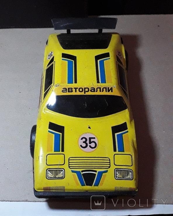 Винтажная машина гоночная СПРИНТ Авторалли,жесть, из СССР, фото №4
